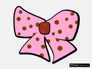 Brown Pink Bow