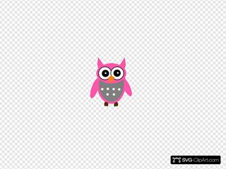 Pink Gray Owl