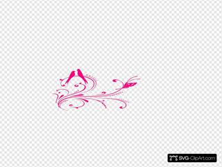 Pink Bird Swirl