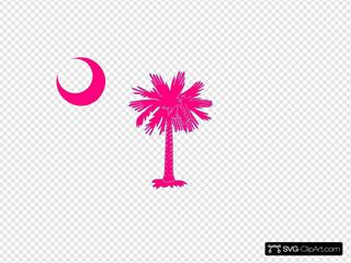 Sc Palmetto Tree Pink