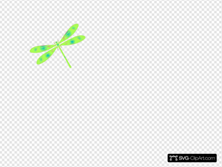 Dragonfly In Flight Blue Green Pink