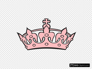 Pink Tiara Clipart SVG Clipart