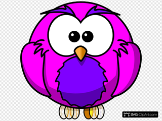 Pink And Purple Hoot