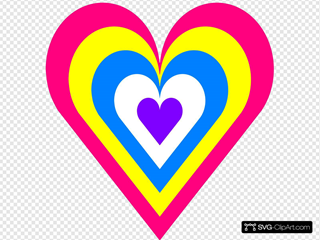 Heart In Colors SVG Clipart
