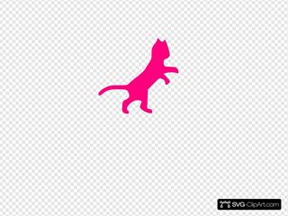 Pink Cat Sillohette