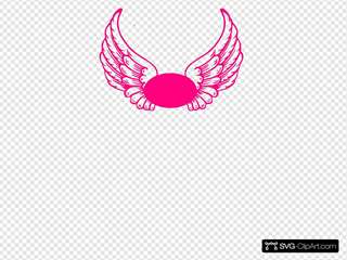 Hot Pink Guardian Angel Wings