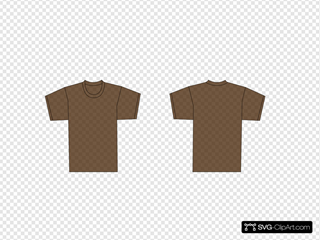 Brown T-shirt Template