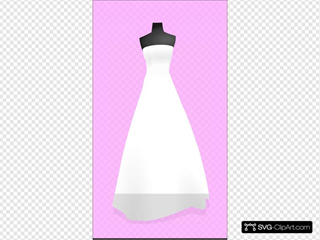 Bridal Gown On Pink Background 3
