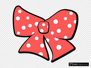 Bow With Polka Dots