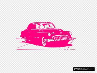 Pink Vintage Car