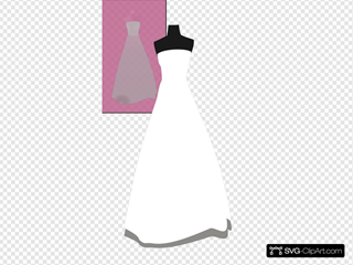 Bridal Gown On Pink Background