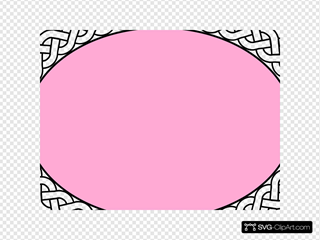 Pink Oval With White Braided Band