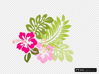 Hibiscus SVG Clipart