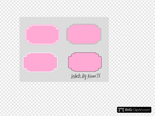 Pink Candy Labels