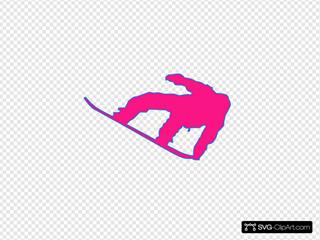 Snowboarder Pink