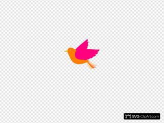 Orange Bird Right