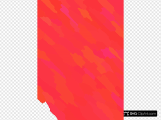 Pink Yellow Orange Red Abstract Slanting Strips Wallpaper
