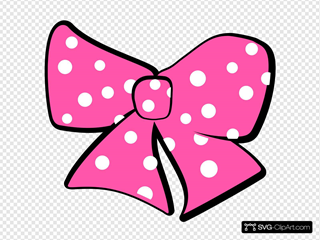 Minnie Mouse Bow SVG Clipart