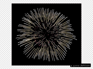 White And Pink Fireworks