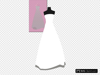 Bridal Gown On Pink Background 5