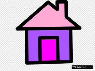 House In Pink And Purple