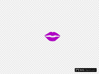 Lips purple. Clip art icon and