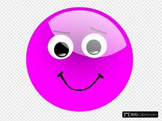 Glassy Smiley Emoticon