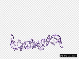 Purple Flower Frame