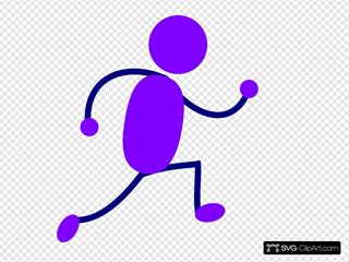 Purple Running Man