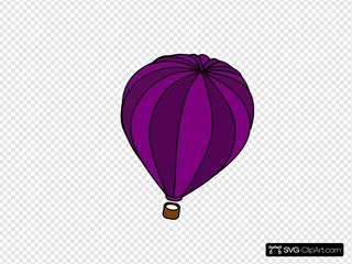 Hot Air Balloon Purple Trophy 5