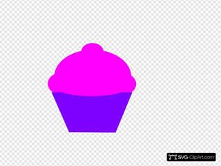 Pink And Curple Cupcake