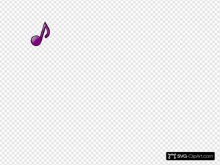 Purple Eighth Note