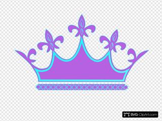 Purple Blue Crown