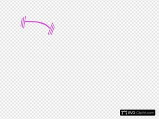 Purple White Dumbbell