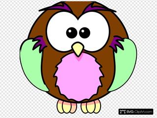 Green Purple Tan Owl