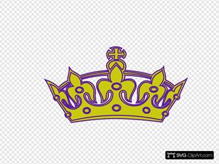 Gold/purple Keep Calm Crown