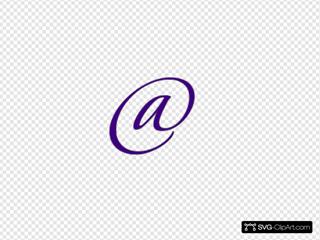 Purple @ Sign