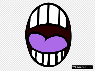 Mouth - Open - Light Purple Tounge