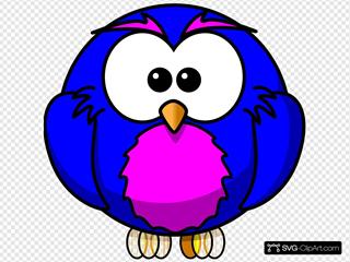 Blue And Purple Hoot
