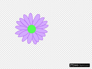 Purple Outline Daisy Clip art, Icon and SVG - SVG Clipart