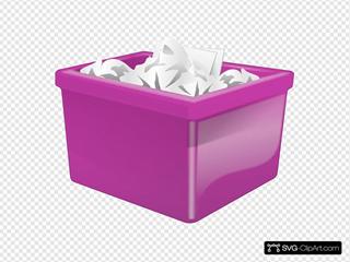 Purple Plastic Bin