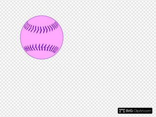 Softball pink. Clip art icon and