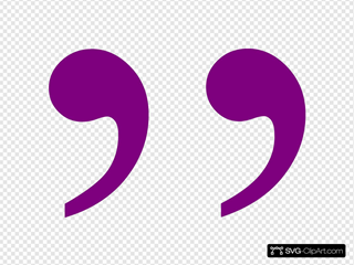 Purple Quotation Mark Right