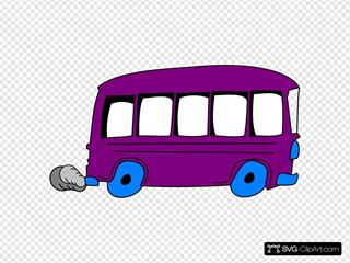 Purple School Bus
