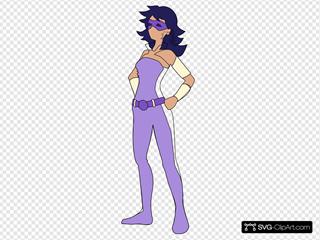 Superhero Girl In Purple