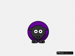 Sheep - #660198 Purple On Black