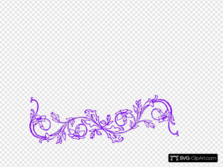 Flower Frame Purple