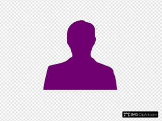 Purple Man Sillhouette