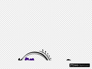 Butterfly Scroll SVG Clipart