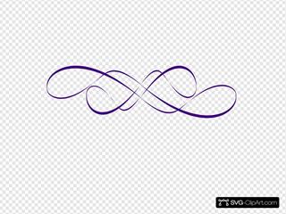 Swirl Design Teal